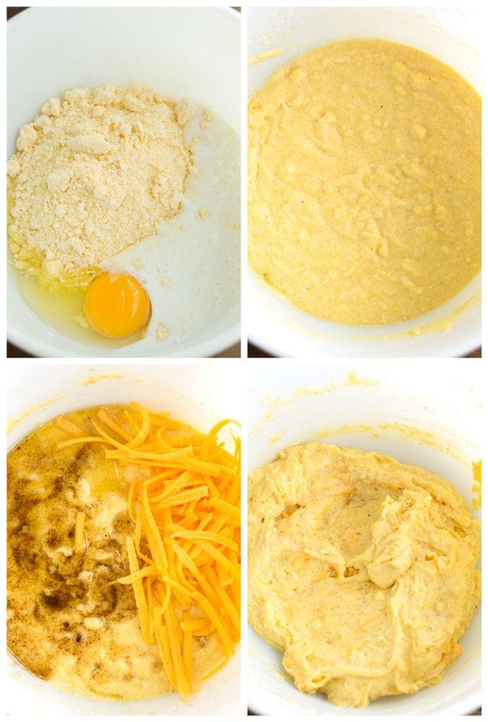 4 steps to make jalapeno cheddar cornbread