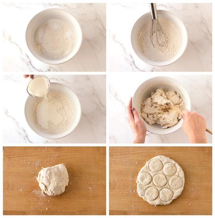 Cream Biscuit Dough Process