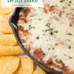 Refried Beans with layer of cheese.