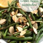 Platter of Green Beans with Circle Text Overlay