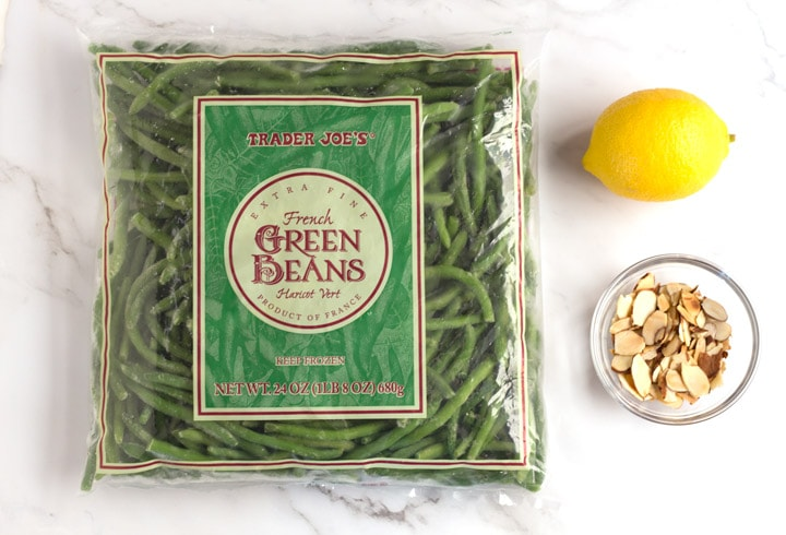 Ingredients for Green Beans Almondine