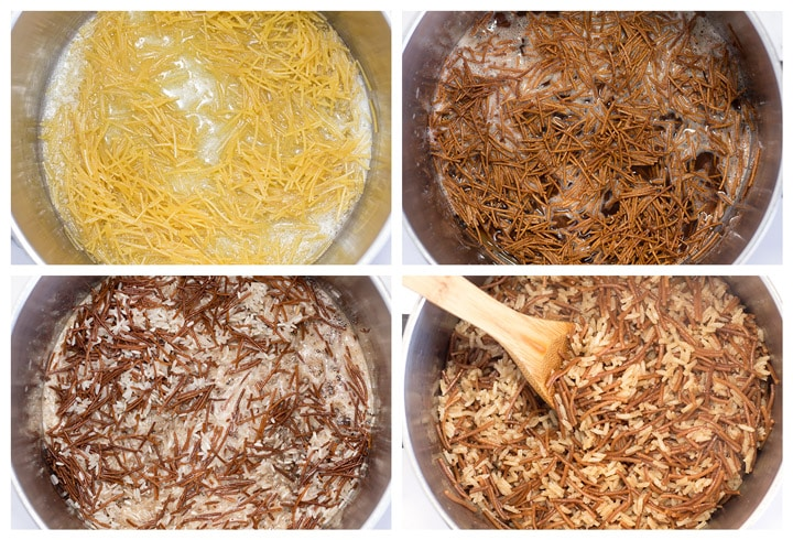 Process Pictures of Making Rice Pilaf