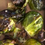 Close up of Crispy Roasted Brussels Sprouts