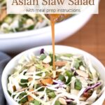 Asian Slaw Salad with text overlay