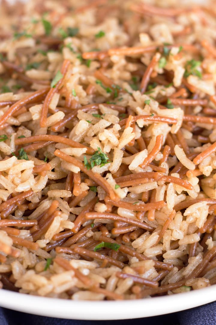 Up Close Rice Pilaf