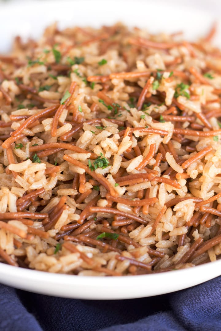 Up Close Brown Butter Rice Pilaf