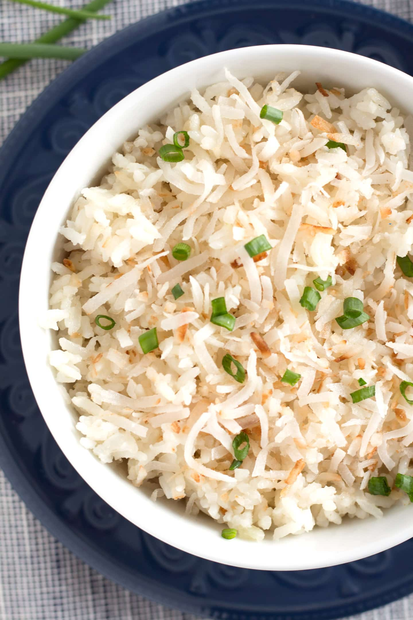 Close up of one bowl of rice