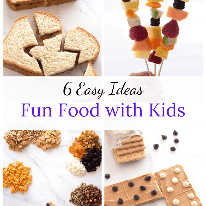 4 pictures of fun food activities