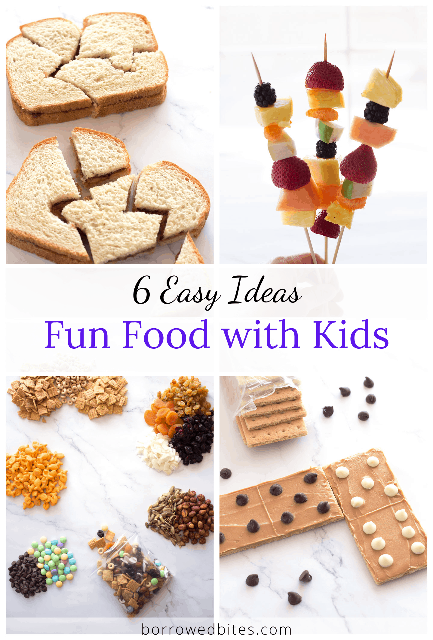 4 pictures of fun food activities