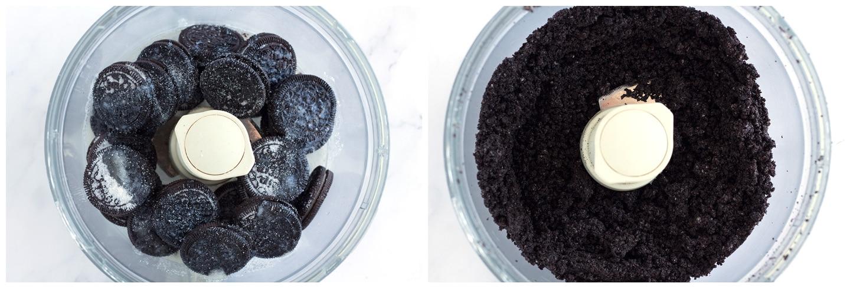 Steps to make oreo crust