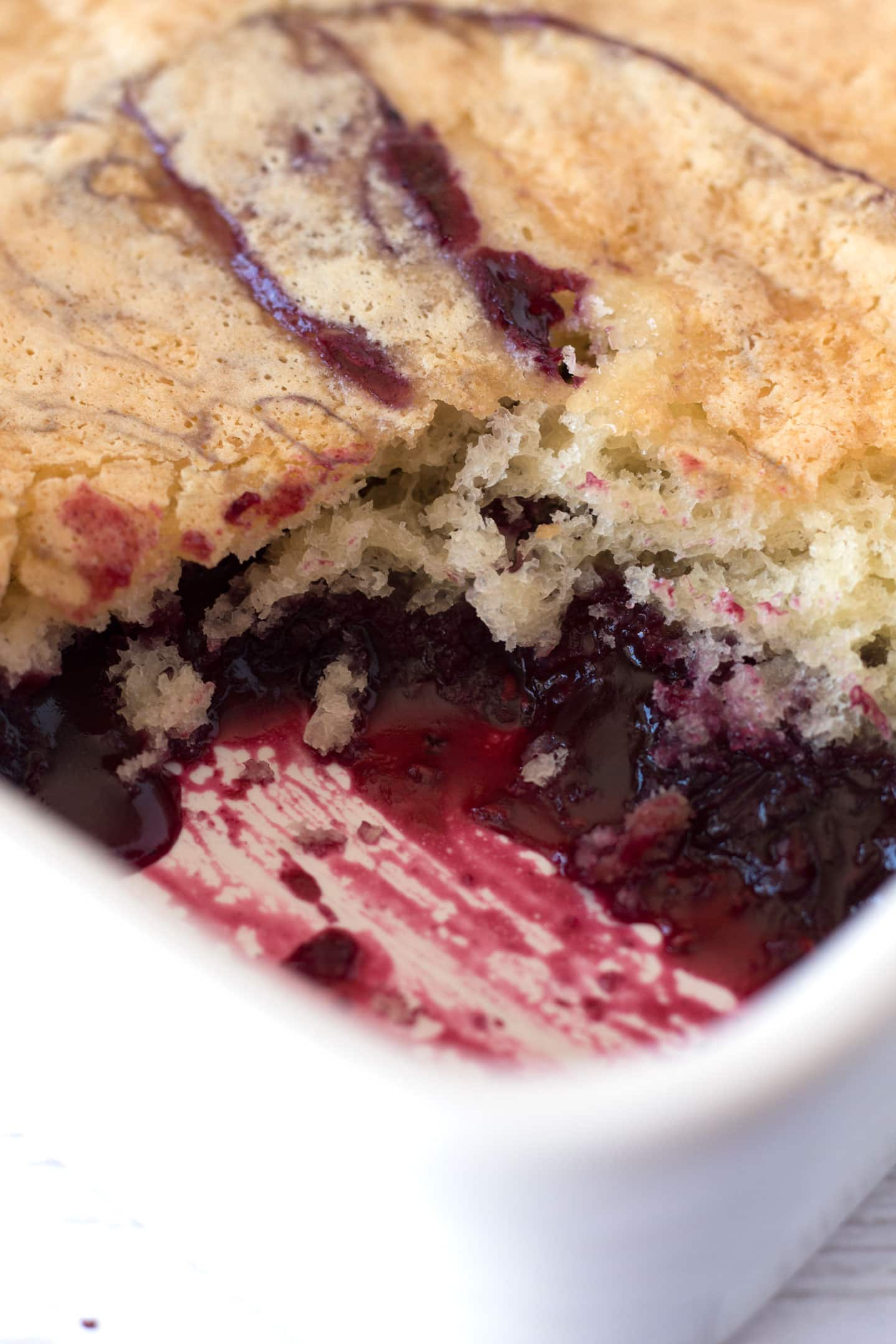 Triple Berry Cobbler in 9x13 pan