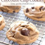 Cookies on cooling rack with text overlay