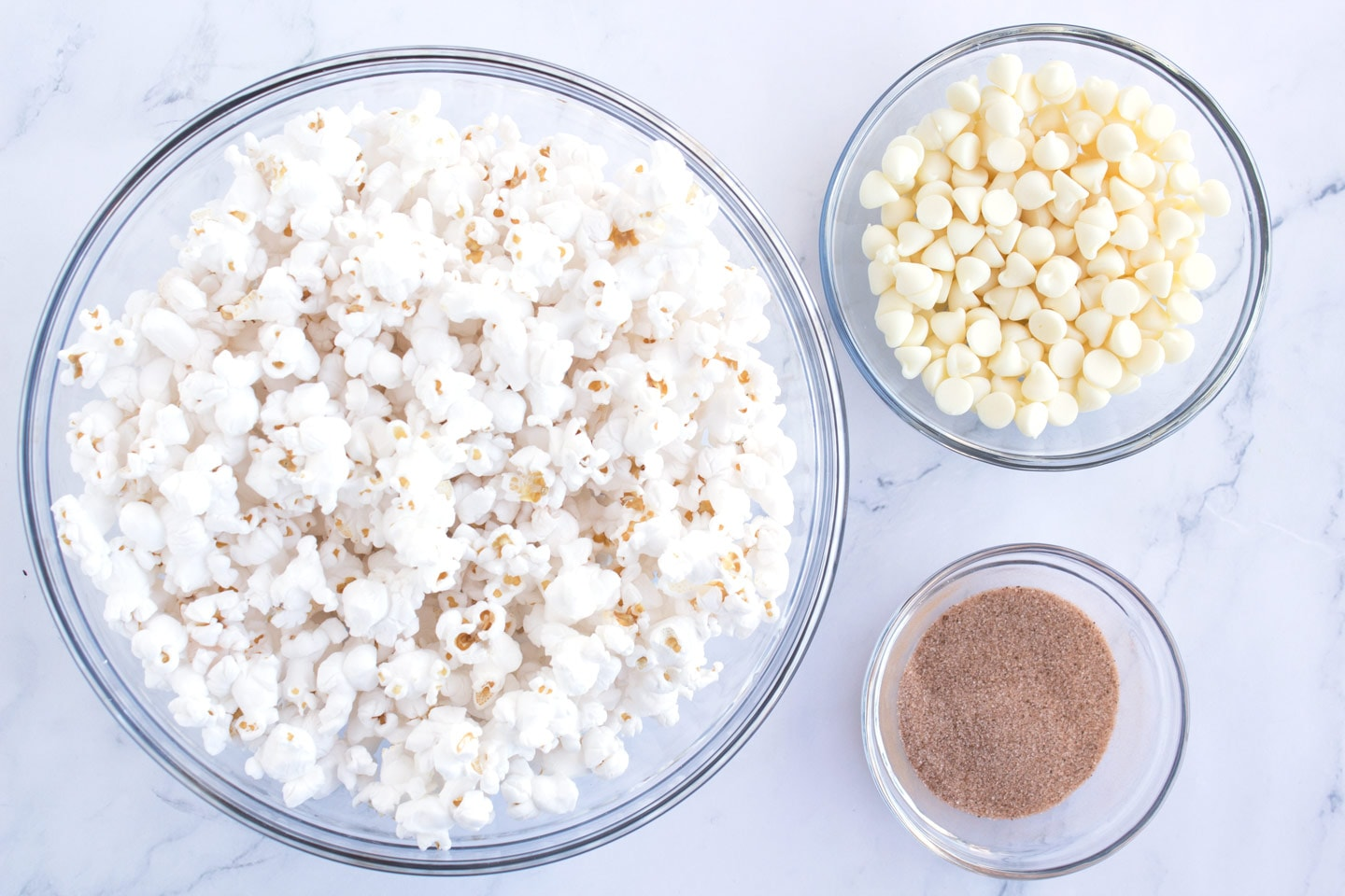 Ingredients for popcorn on counter