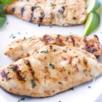 Close up of Sweet and Zesty Grilled Chicken