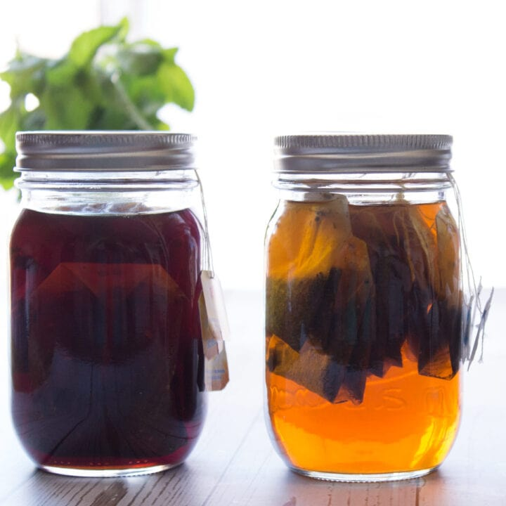 Two jars of concentrate side by side
