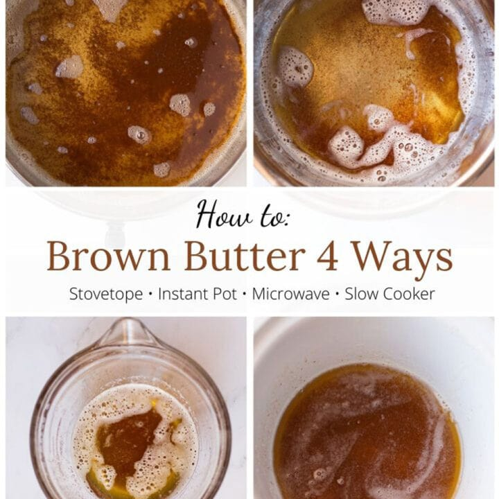 How to Brown Butter 4 ways graphic with text