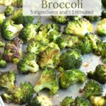 Sheet pan of oven roasted broccoli