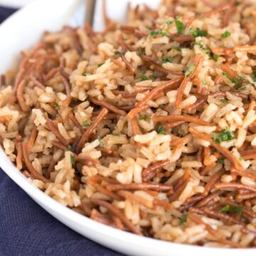 Bowl of Brown Butter Rice Pilaf