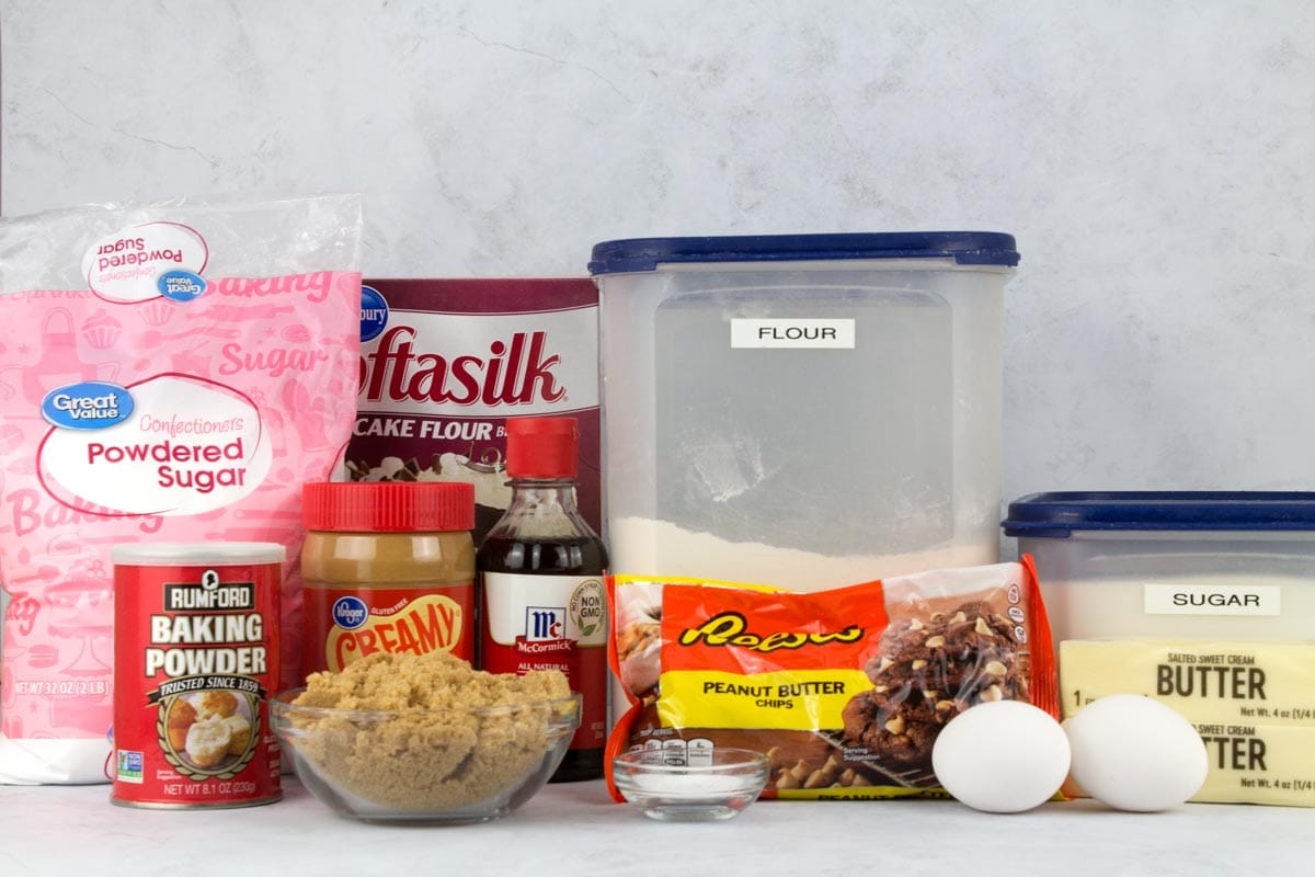 Crumbl copycat cookie ingredients for the Ultimate Peanut Butter Cookie.
